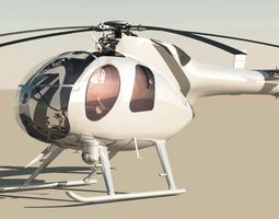 MD-500 Model 369D NOTAR Helicopter 3D