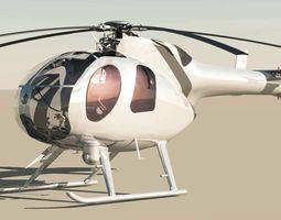 MD-500 Model 369D NOTAR Helicopter 3D Model