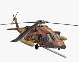 3d model uh-60 blackhawk idfaf