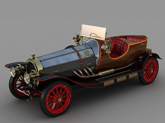 chitty chitty bang bang 3d model animated max fbx 1