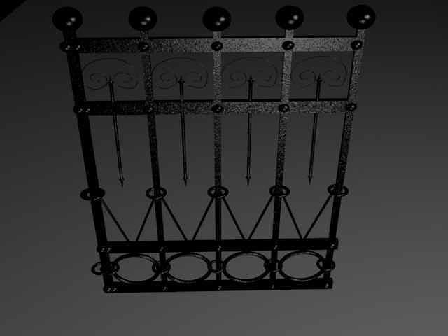 fence 3d model max 1