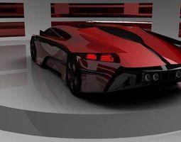 3D supercar concept car