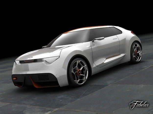 kia provo concept 3d model rigged max obj mtl fbx mat 1