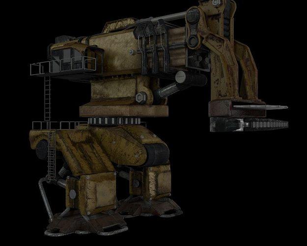 robot 3d model obj mtl fbx ma mb lxo lxl 1