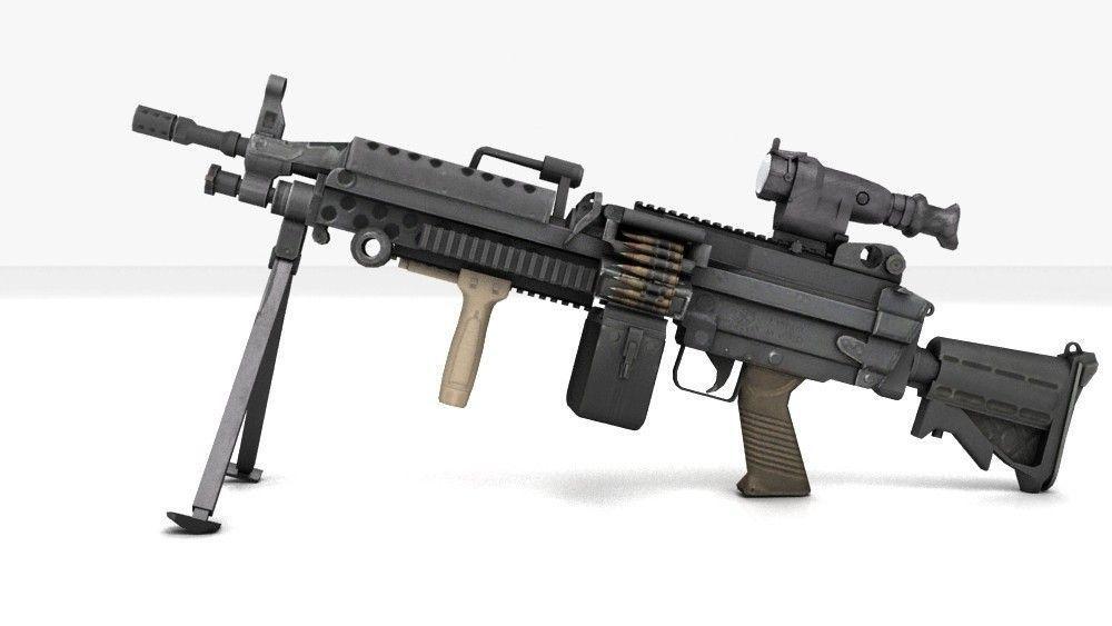 M249 Light Machinegun 3D Model MAX OBJ | CGTrader.com