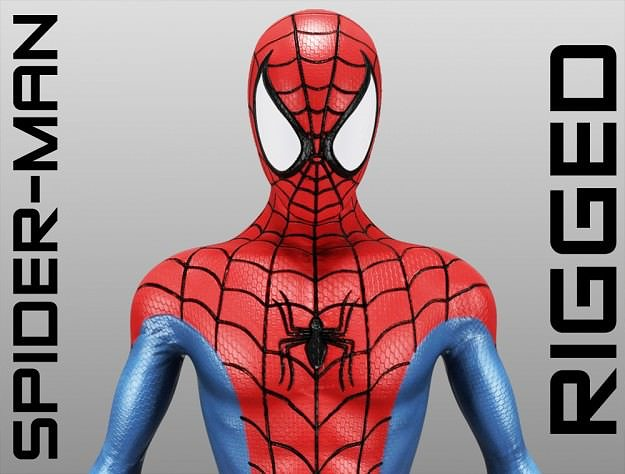 spider-man 3d model rigged max obj mtl 3ds c4d lwo lw lws hrc xsi 1