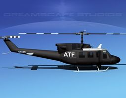 bell 212 atf 3d model rigged max obj 3ds lwo lw lws dxf stl