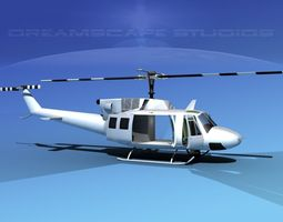 bell 212 critical flight 3d model rigged max obj 3ds lwo lw lws dxf stl