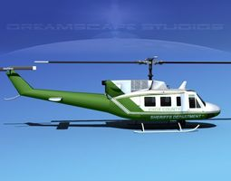 Bell 212 Knox County Sheriff 3D Model