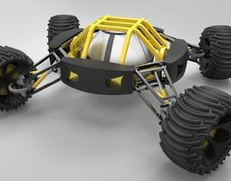 Two-sided vehicle 3D Model