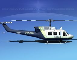 Bell 212 V09 Police SWAT 3D Model