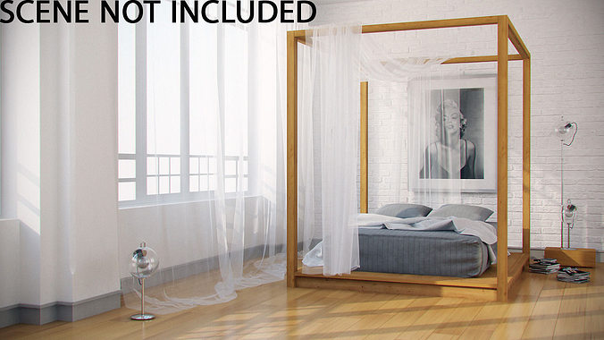 canopy bed 3d model max fbx 1 ... & 3D model Canopy Bed | CGTrader