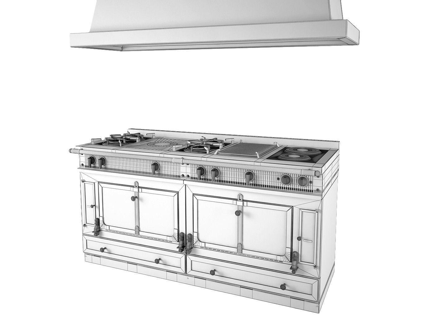 la cornue grand palais 180 3d model max obj 3ds fbx dwg. Black Bedroom Furniture Sets. Home Design Ideas