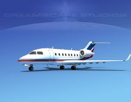 3D Bombardier Challenger CL-605 V02