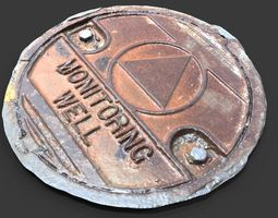 3D Monitoring Well Utility Cover