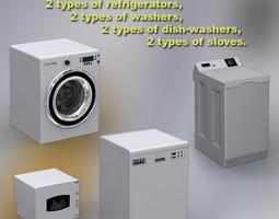 3D model Household Appliances Set