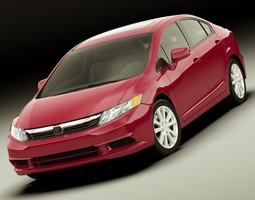 3d model honda civic sedan 2012
