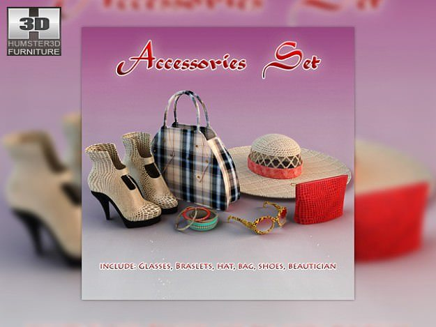 woman accessories 3d model low-poly max obj mtl 3ds lwo lw lws 1