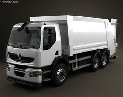3d renault premium distribution hybrys garbage truck 2011