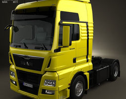 3d model man tgx tractor truck 2012