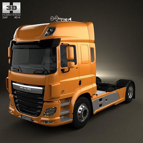 3D DAF CF Tractor Truck 2013