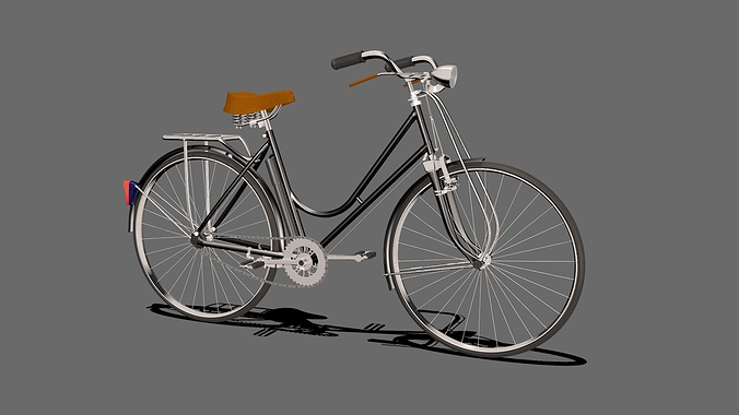 heavy duty bicycle 3d model rigged obj mtl 3ds fbx blend dae x3d 1