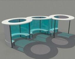 Bus Shelter 3D model