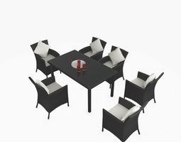 3D Rattan Furniture DECO