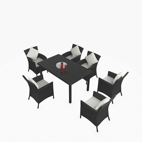 rattan furniture deco 3d model max obj mtl fbx 1
