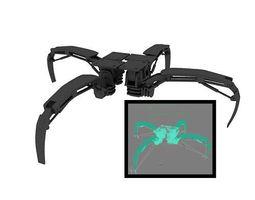 fully customized feet  for robot 3D Model