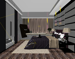 Bedroom or Hotel Room Photoreal 3D