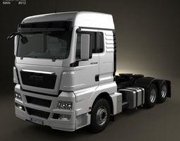 3d man tgx tractor truck 3 axis 2012