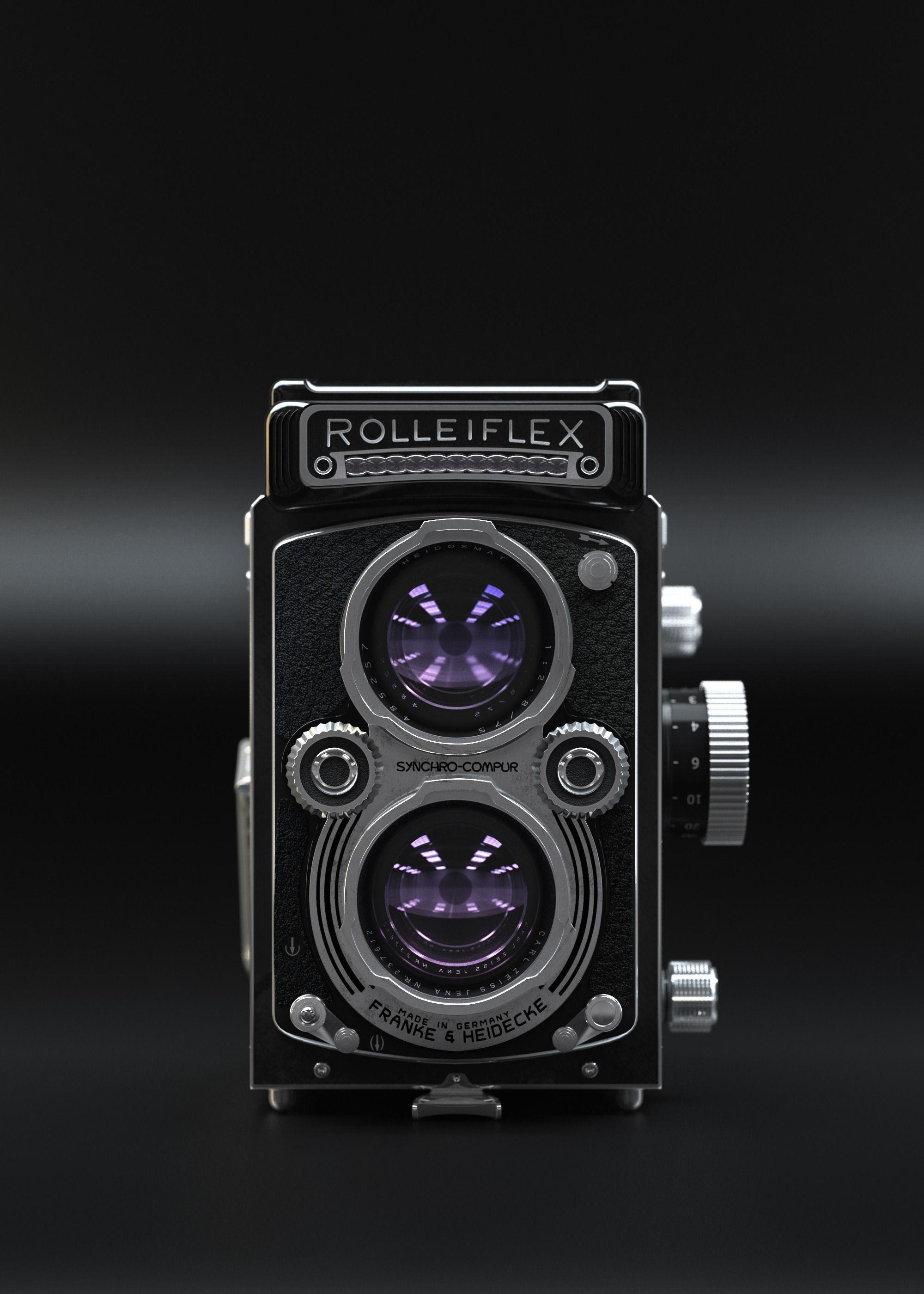 Rolleiflex camera retro