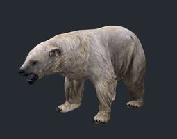lowpoly polar bear 3D Model