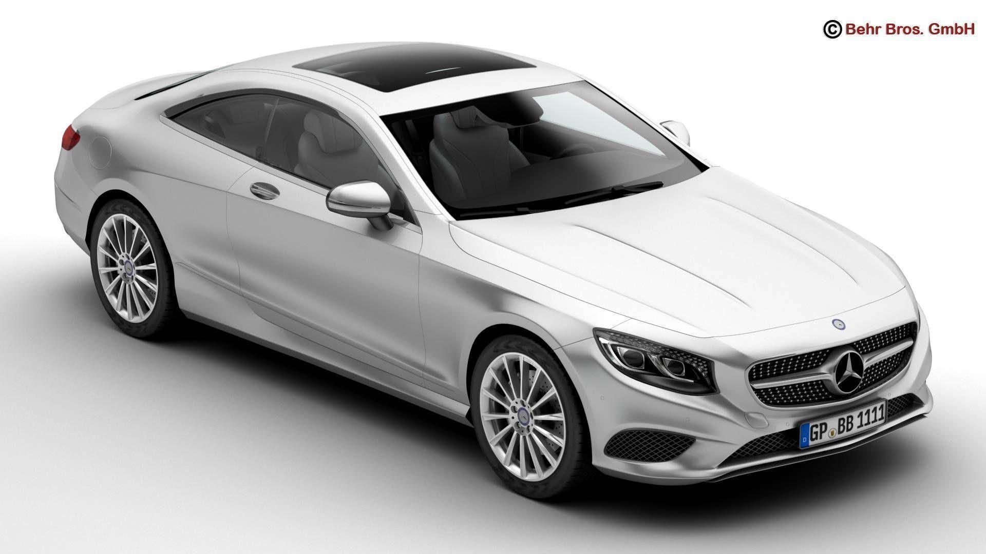 mercedes s class coupe 2015 2 headlight versions 3d model max obj 3ds fbx c4d lwo mercedes s class coupe 2015 2 headlight versions 3d model