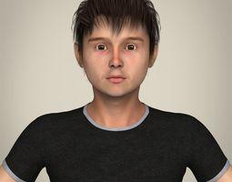 Realistic Teen Boy 3D model