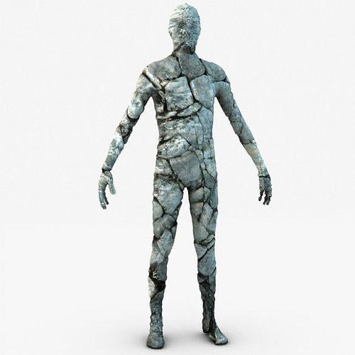 stone golem guardian 3d model max obj mtl 3ds fbx c4d 1