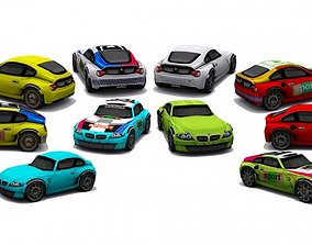 Collection low poly cars - set 2 3D model