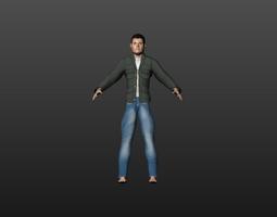 Cartoon Man 3D Model