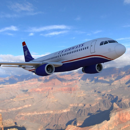airbus a-320 3d model low-poly obj mtl 3ds pdf 1