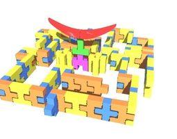 Soft BLocks Mini Maze 3D model