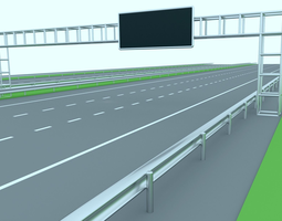 realtime 3d model freeway or highway