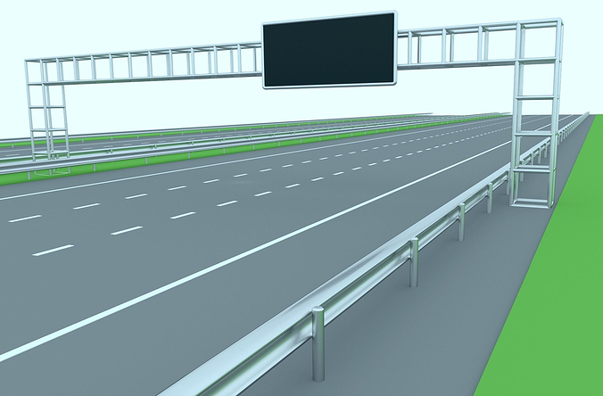 freeway or highway 3d model low-poly obj mtl blend 1