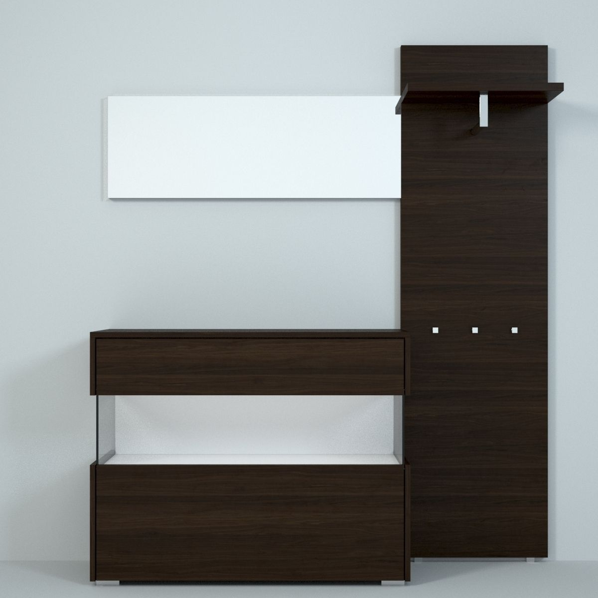 hulsta elea ii hallway 3d model max. Black Bedroom Furniture Sets. Home Design Ideas