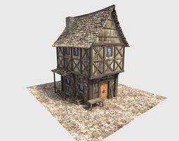 3D medieval village house