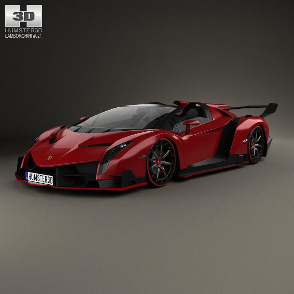 Lamborghini Veneno Roadster 2014 3d Cgtrader