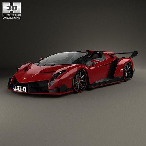 Lamborghini Veneno Sports Cars: Lamborghini Veneno Roadster 2014 3D