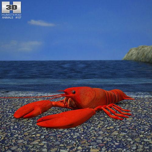 lobster 3d model max obj mtl 3ds fbx c4d lwo lw lws 1