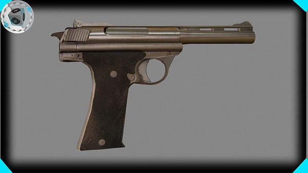 gun 3d model max 1