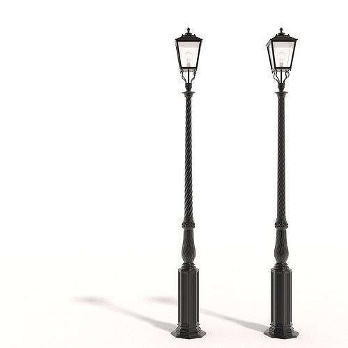 3d Model Cast Iron Street Lamps Cgtrader